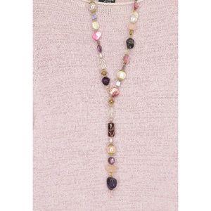 Handmade Jewelry - Necklace-artist-handmade-necklace-rose-quartz-ame